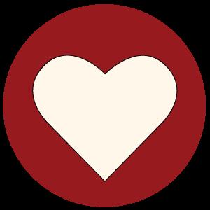Meeting Church Icon Heart